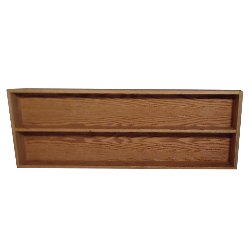 "Model 208-4 Collectible Display Shelf - (2) 5"" Shelves - 8"" Openings - 52"" Wide"