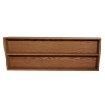 "Model 20810-4 Collectible Display Shelf - (2) 5"" Shelves - 10"" Openings - 52"" Wide"