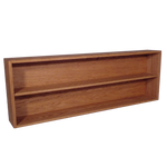 "Model 210-4 Collectible Display Shelf - (2) 6"" Shelves - 8"" Openings - 52"" Wide"