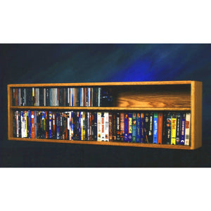Model 211-4W CD/DVD/VHS Combination Rack - honey oak