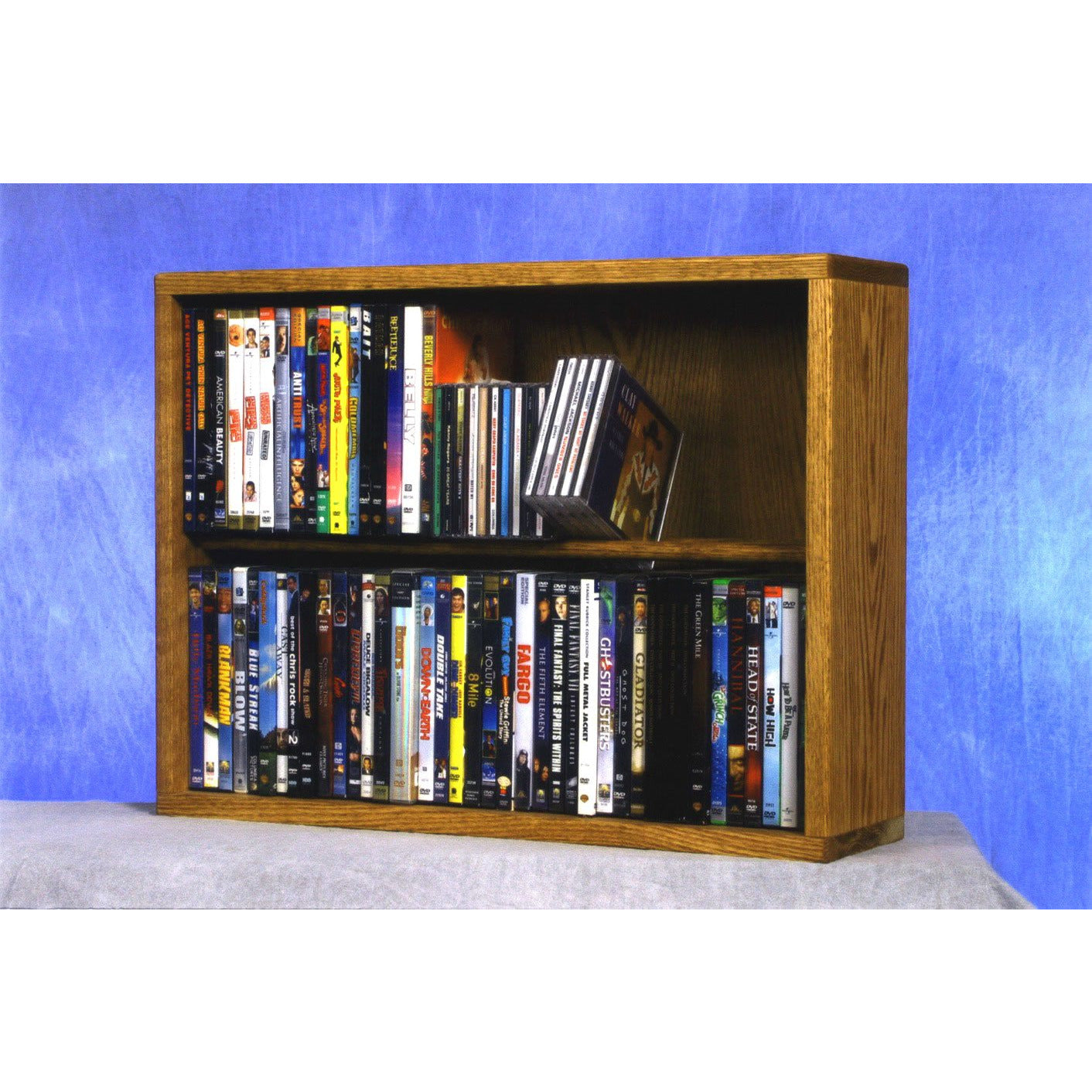 Model 215-24 CD/DVD/VHS Combination Cabinet - honey oak