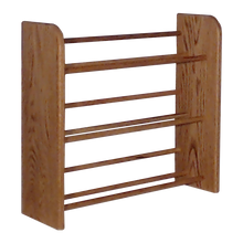 Load image into Gallery viewer, CD holder rack Model 301 CD Storage Rack from Hill Wood Shed, available in honey oak, dark finish, clear finish, and unfinished wood