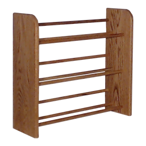 CD holder rack Model 301 CD Storage Rack from Hill Wood Shed, available in honey oak, dark finish, clear finish, and unfinished wood