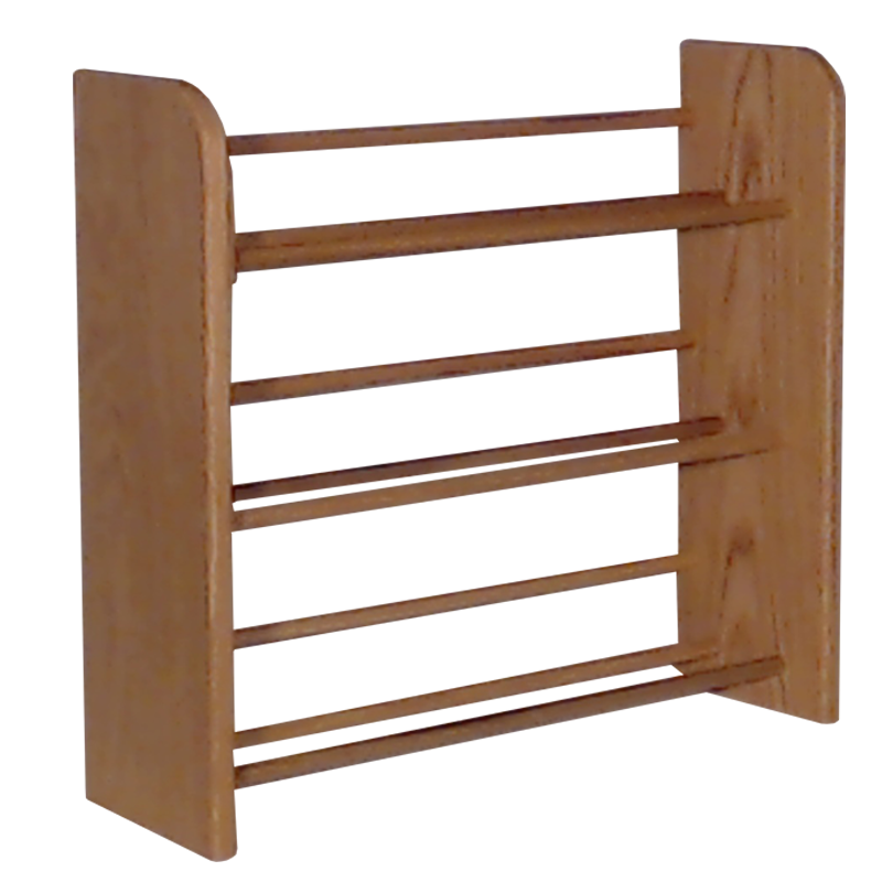 Small CD rack Model 301 CD Storage Rack - clear