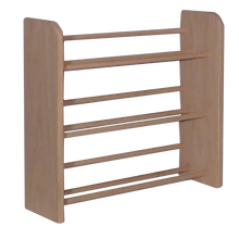 Load image into Gallery viewer, Model 301 CD Storage Rack, small wooden dowel storage rack from Hill Wood Shed, available in honey oak, dark finish, clear finish, and unfinished wood