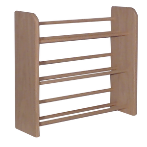 Model 301 CD Storage Rack, small wooden dowel storage rack from Hill Wood Shed, available in honey oak, dark finish, clear finish, and unfinished wood