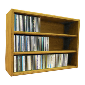 Model 303-2 CD Storage Rack - honey oak