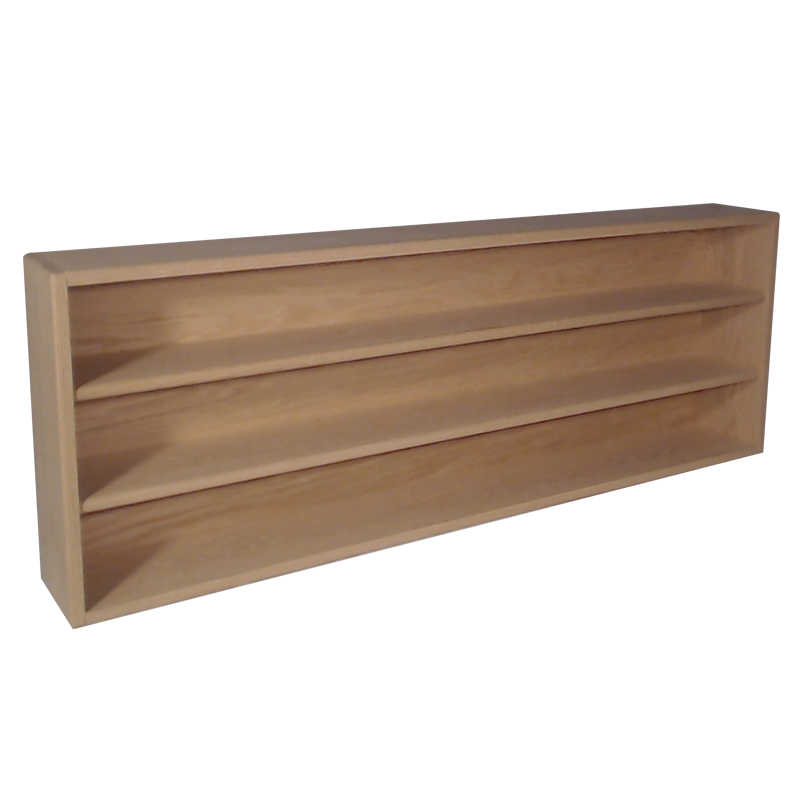 "Model 303-4 Collectible Display Shelf - (3) 6"" Shelves - 5"" Openings - 52"" Wide"