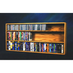Model 313-4W CD/DVD/VHS Combination Cabinet - honey oak