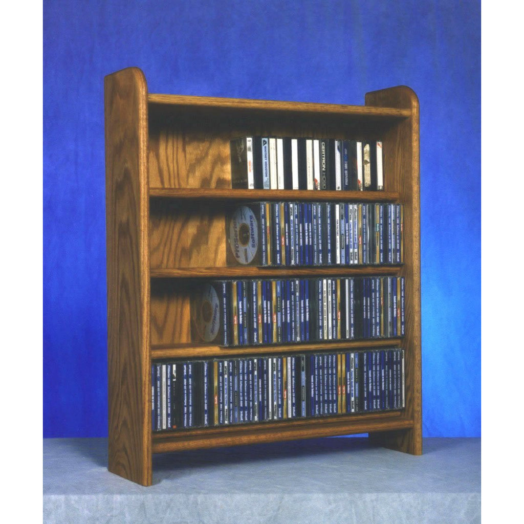 CD shelf, solid oak, Model 402 CD Storage Rack from Hill Wood Shed, holds up to 275 CDs