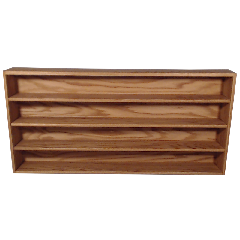 "Model 403-4 Collectible Display Shelf - (4) 6"" Shelves - 5"" Openings - 52"" Wide"