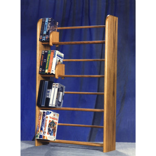 Media storage Model 405 VHS & DVD Storage Rack from Hill Wood Shed, holds 160 DVD/blu-ray or 84 VHS