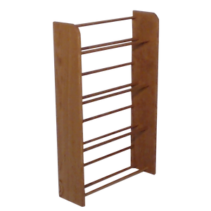 Media storage Model 405 VHS & DVD Storage Rack  - honey oak