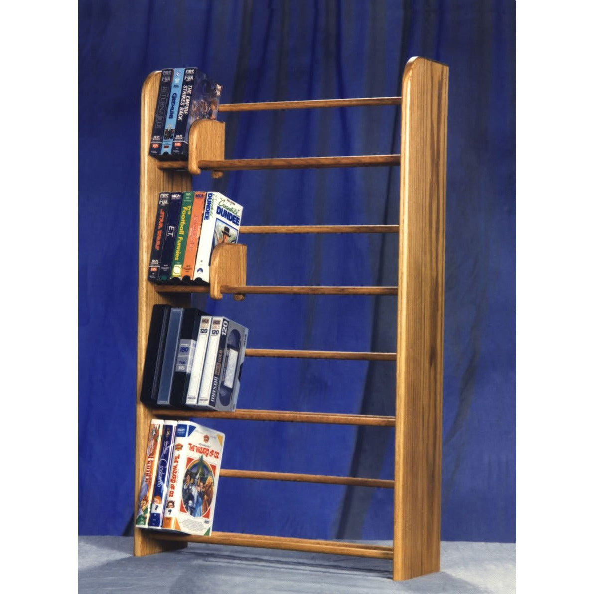05 Series DVD and VHS Storage Racks - Dowel style - 5 sizes