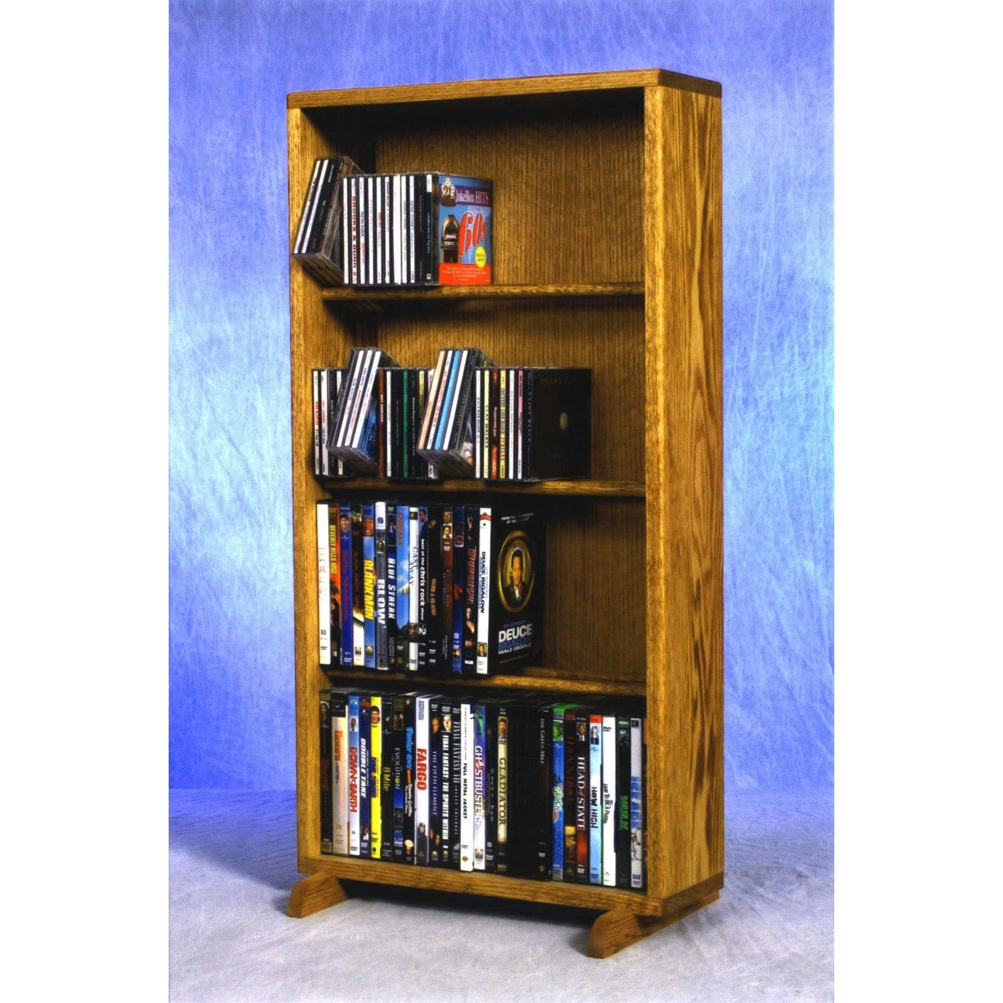Model 415-18 CD/DVD/VHS Combination Cabinet - honey oak