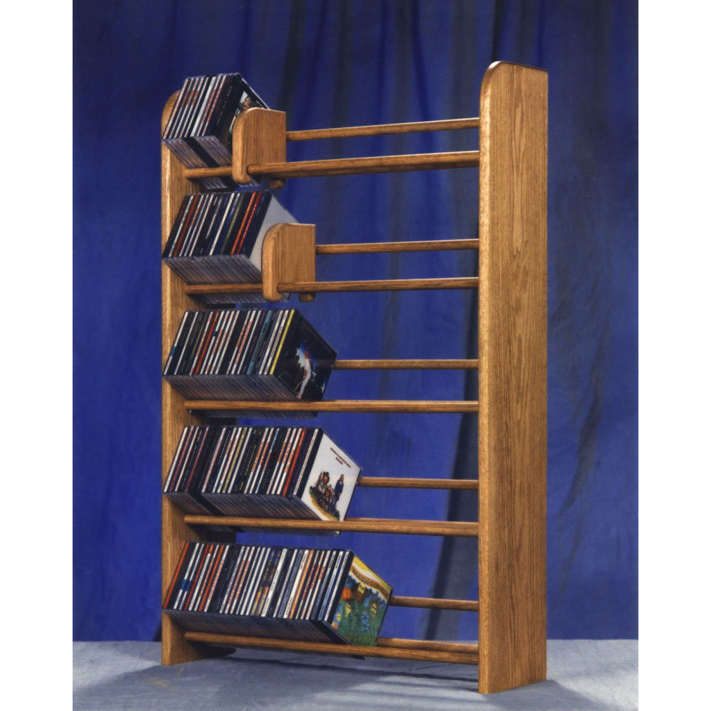 Hill Wood Shed Model 501 CD Storage Rack, wooden cd rack stores 275 CDs, available in 4 colors