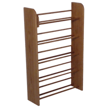 Load image into Gallery viewer, Angle view of wooden CD storage Model 501 CD Storage Rack from Hill Wood Shed