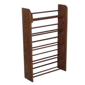 CD rack, dark finish, Wooden CD storage in honey oak Model 501 CD Storage Rack from Hill Wood Shed, stores 275 CDs, angle view