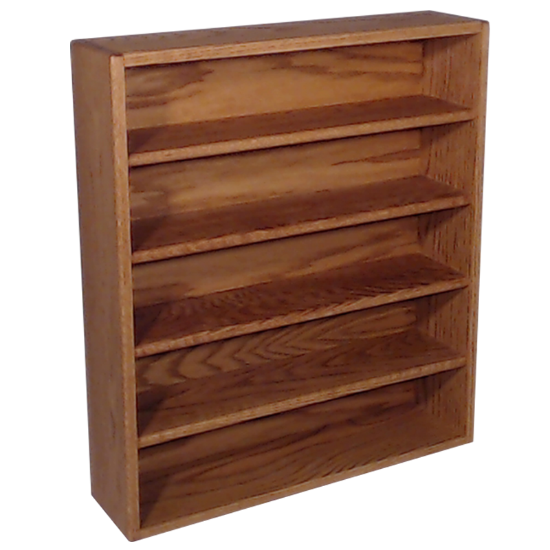 "Model 503-2 Collectible Display Shelf - (5) 6"" Shelves - 6"" Openings - 26"" Wide"