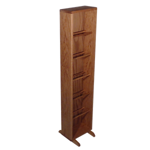 Model 615-12 CD/DVD/VHS Combination Rack - honey oak