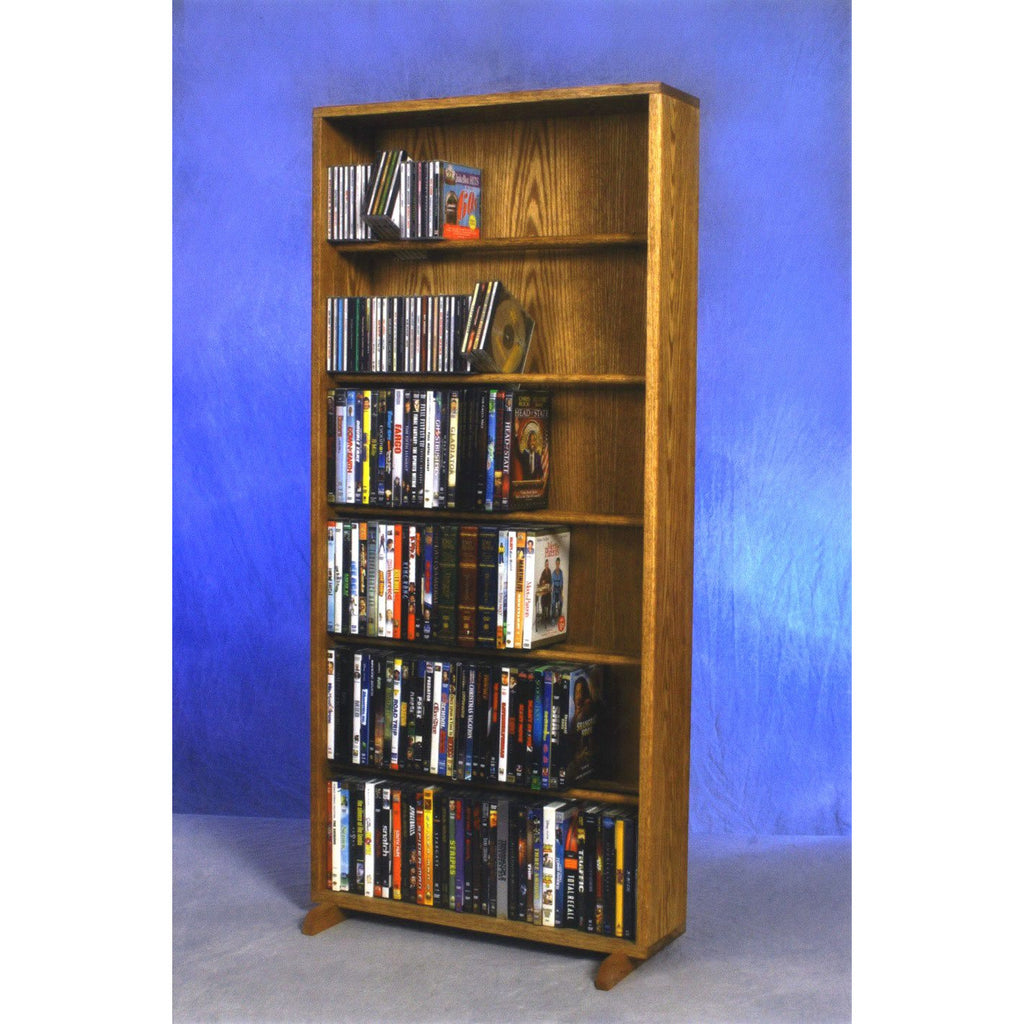 Model 615-24 CD/DVD/VHS Combination Storage Cabinet - honey oak