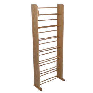clear finish Model 705 DVD rack
