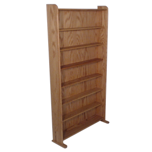 Model 707-3 VHS & DVD Storage Rack - honey oak