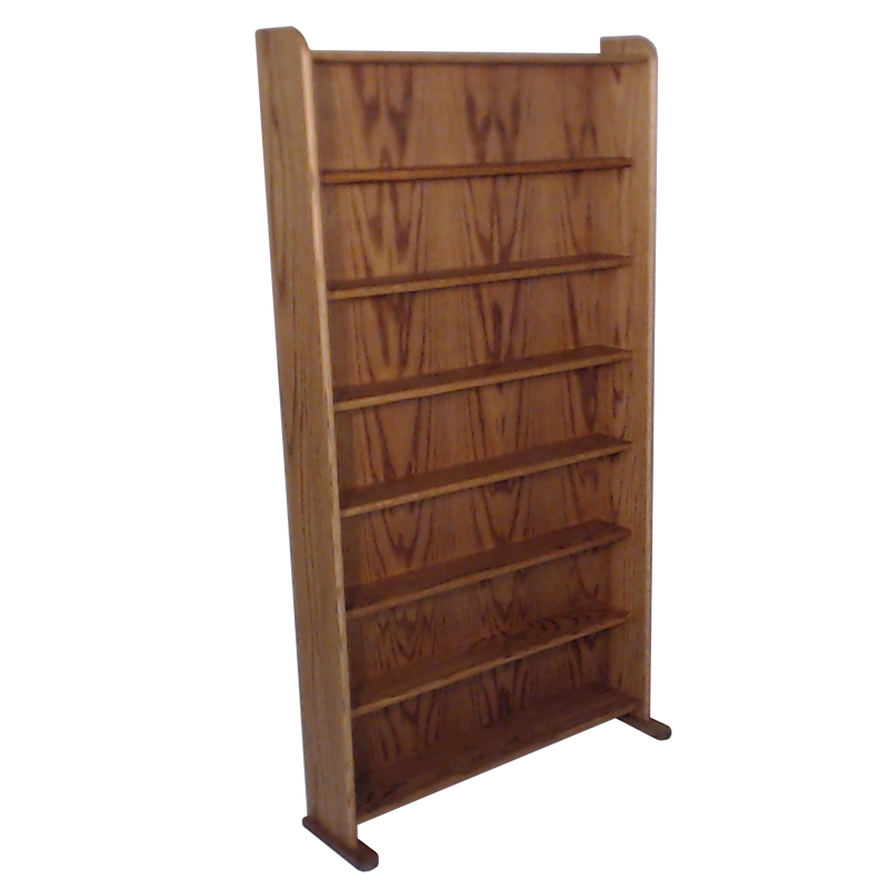Model 707-3 VHS & DVD Storage Rack - dark