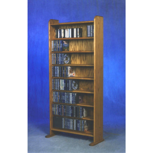 CD storage from Hill Wood Shed, Model 802 CD Storage Rack holds up to 504 CDs or 576 audio tapes in an attractive, solid wood media rack