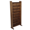 Media rack Model 802 CD Storage Rack from Hill Wood Shed holds up to 504 CDs or 576 audio tapes