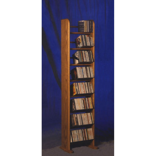 CD Storage Tower from Hill Wood Shed | Model 804 CD Storage Rack holds 208 CDs in 12.25