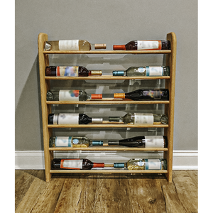 Wine Rack - 12 Bottle Horizontal - Round top