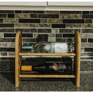 Wine Rack - 2 Bottle Horizontal - Square top