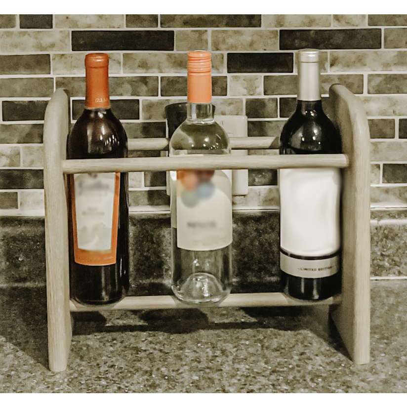 Wine Rack - 3 Bottle Vertical - Round top