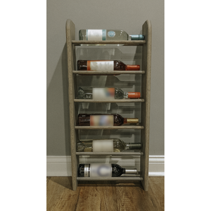 Wine Rack - Tall 6 Bottle Horizontal - Round top