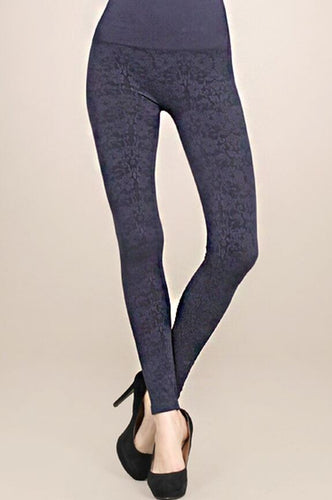 2-Tone Jacquard Leggings