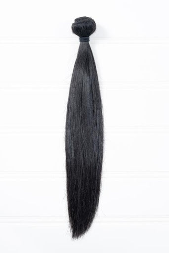 Virgin Straight Single bundle Natural black