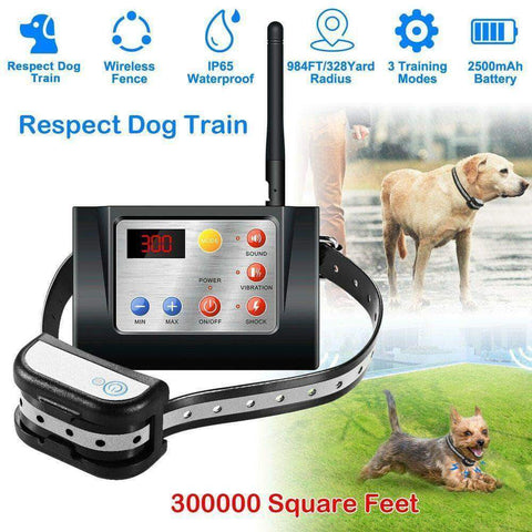 Dog Fence Wireless and Training Collar Outdoor - pethomeus