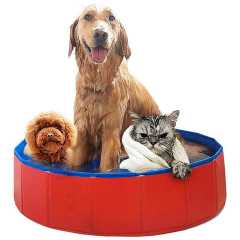 Dog Swimming Pool Foldable - pethomeus