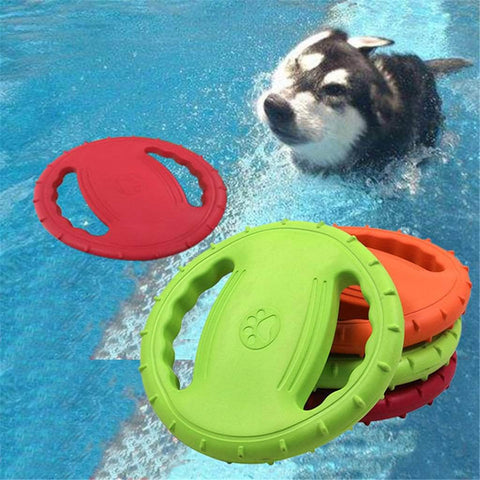 Funny Silicone Flying Saucer Dog Cat Toy - pethomeus
