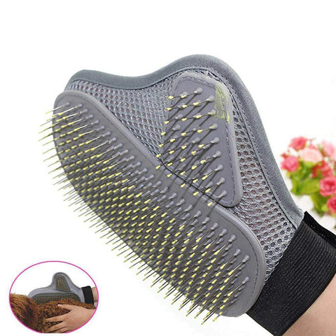 Pet Grooming Glove Hair Removal Brush - pethomeus