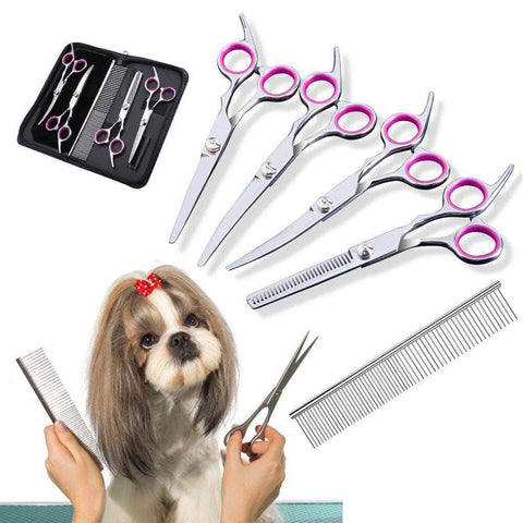 Pet Dog Hair Cut Scissors Set - pethomeus