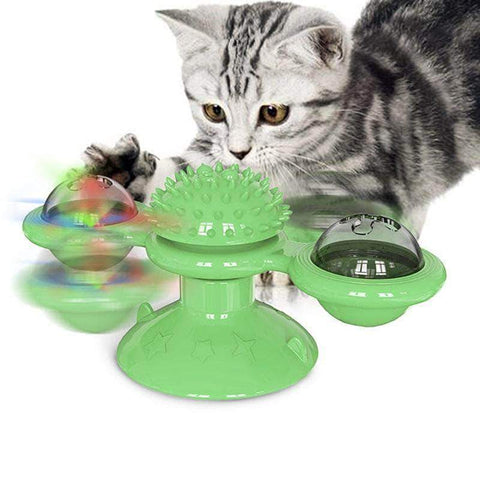 Windmill Cat Toy Funny Turntable - pethomeus