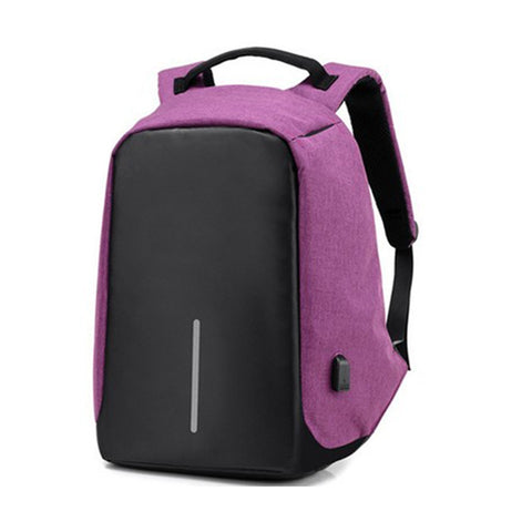 Anti-Theft Backpack with USB Charge port - Purple