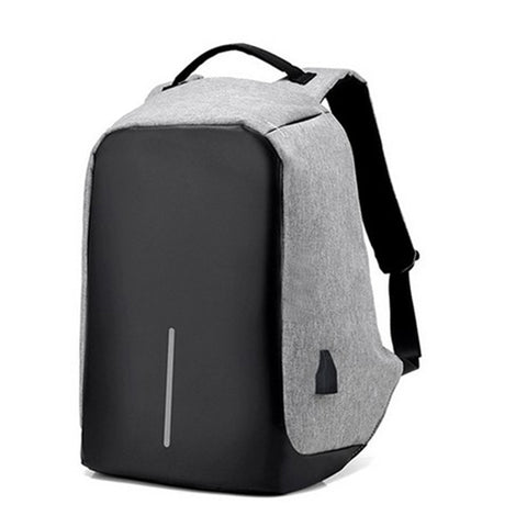 Anti-Theft Backpack with USB Charge port - Grey