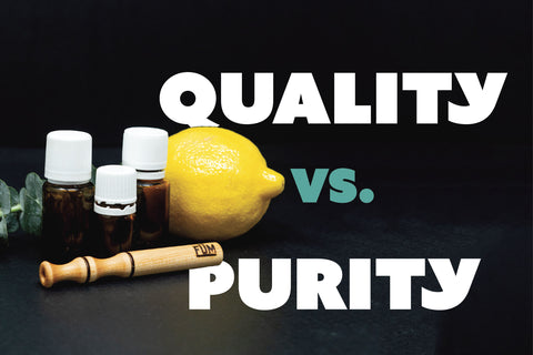 quality vs. purity essential oils