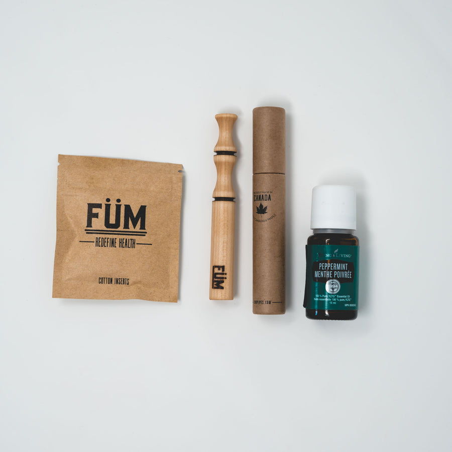 FUM Starter Pack-FUM prominent and Peppermint Essential oil -breathe-essential oils-inhaler-personal-diffuser-pen-aromatherapy-youngliving-doterra