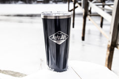 24oz Lake Life Brand drink tumbler midnight navy
