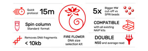 Revolugen-fire-flower DNA size selection kit