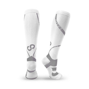 BRACOO LS72 ELP Compression Socks(Gray/White)